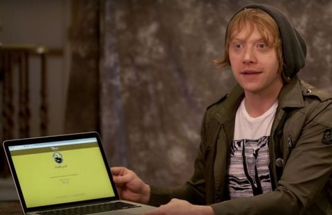 Ruper Grint Harry Potter stars sort themselves into houses on Pottermore