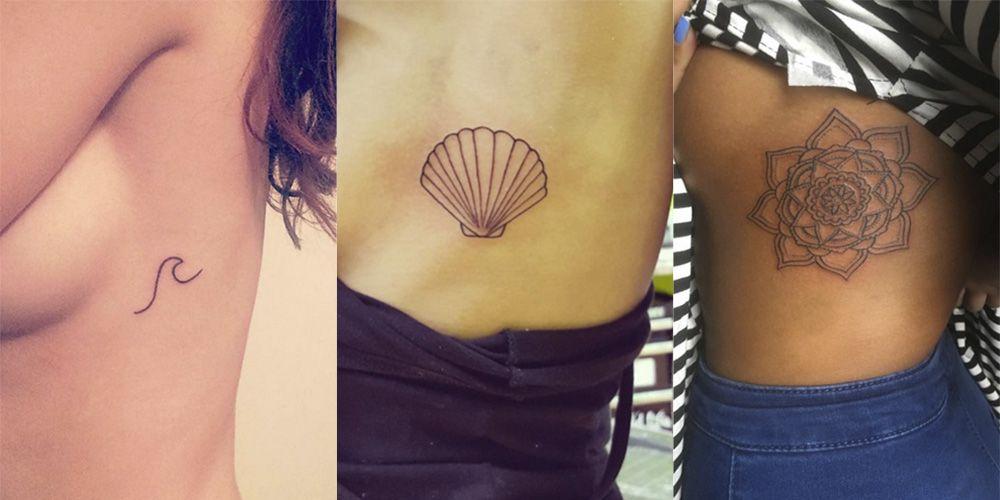 Side boob tattoo