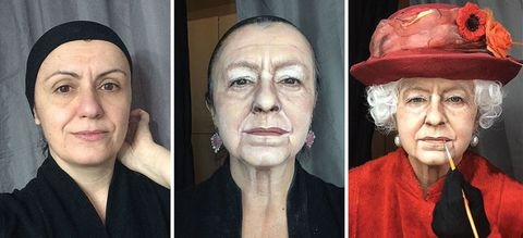 This woman's makeup transformations into The Queen and