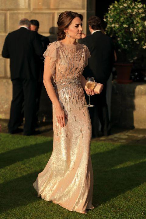 Kate Middleton wearing Jenny Packham gown