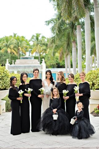 Black Bridesmaid Dresses Unique
