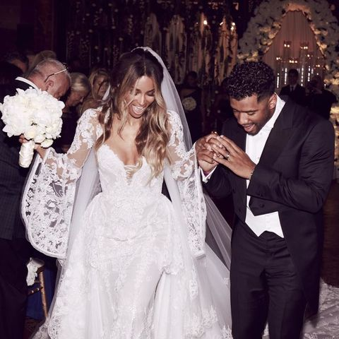 Ciara And Rus Wilson At Their Wedding Day