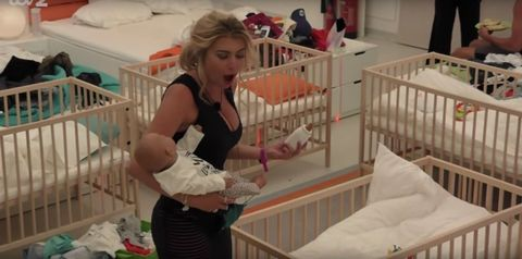 The Love Island contestants become parents in tonight's episode and things get STRESSFUL