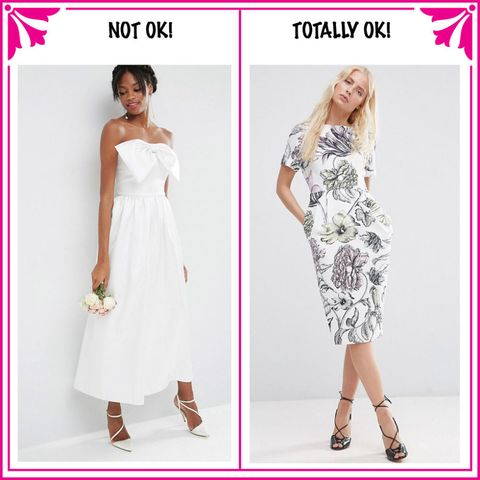 12 things you should never wear to a wedding what not to wear to a wedding white junglespirit Image collections