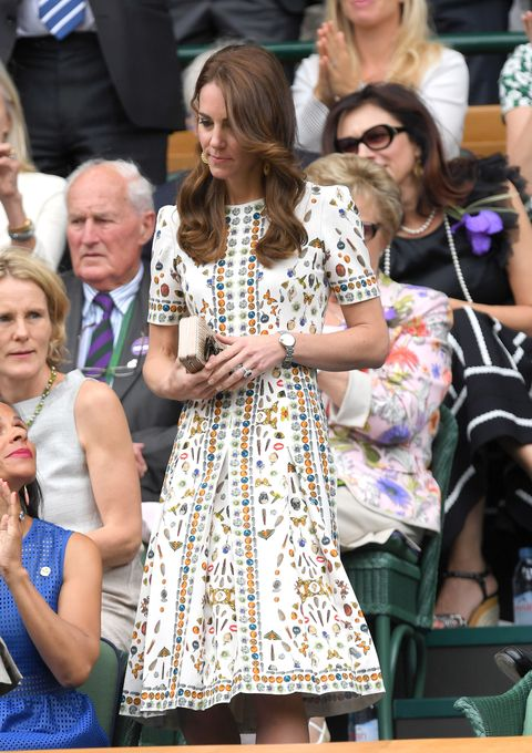 Kate Middleton at the 2016 Wimbledon tennis finals