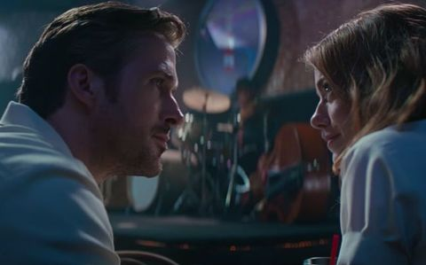 Emma Stone and Ryan Gosling in the new trailer for La La Land musical
