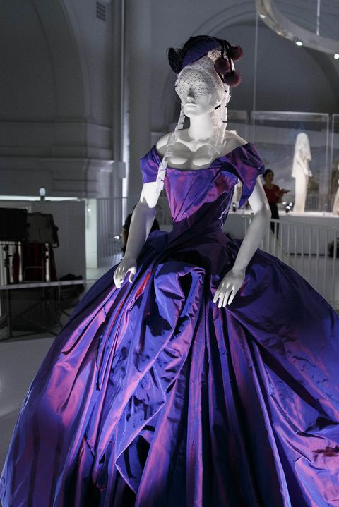 Purple, Fashion, Costume design, Dress, hoopskirt, Victorian fashion, Costume, Gown, Haute couture, World,