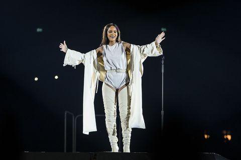 Rihanna performing in Stockholm