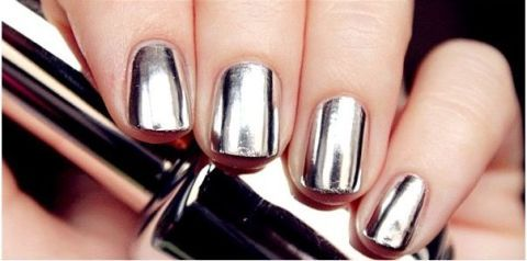 This mirrored nail polish is all kinds of amazing