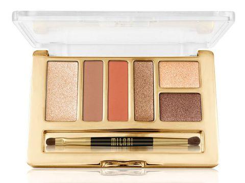 Brown, Rectangle, Eye shadow, Tan, Beige, Cosmetics, Metal, Peach, Lipstick, Silver,