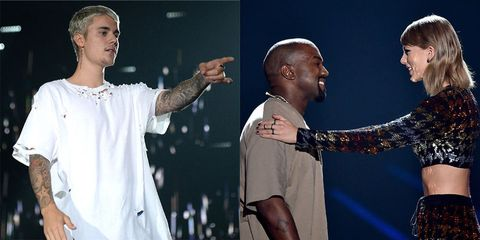 Justin Bieber weighs into Kanye West and Taylor Swift feud