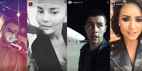 List of celebrities using Instagram Stories