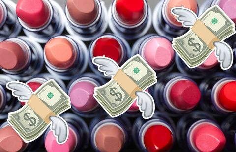 Red, Pink, Colorfulness, Carmine, Metal, Circle, Lipstick, Collection, Still life photography, Symbol,