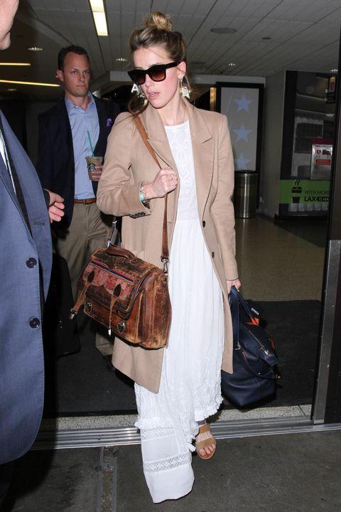 Amber Heard at LA airport