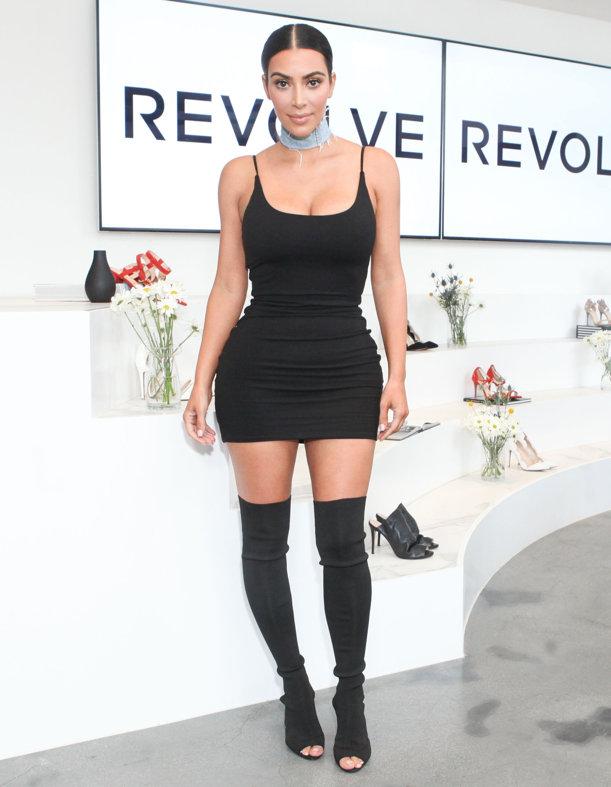 Kim Kardashian came out in a dress with a breasted 12/07/2017 100