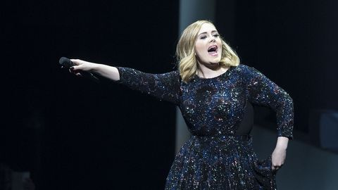 Adele performing at the Ziggo theatre in Amsterdam