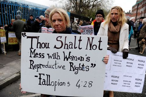 abortion protests in ireland