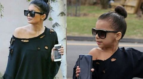 Six-year-old copies Kylie Jenner's style