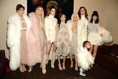 Kardashian Jenners at Kanye West's Yeezy season 3 show