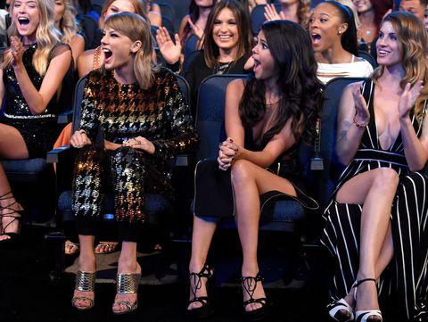 Taylor Swift and Selena Gomez at the VMAs