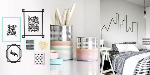 14 washi tape and masking tape interior ideas you will love