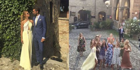 Millie Mackintosh REALLY wanted to catch the bouquet at this wedding