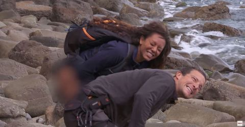 mel b urinates on bear grylls to soothe jellyfish sting