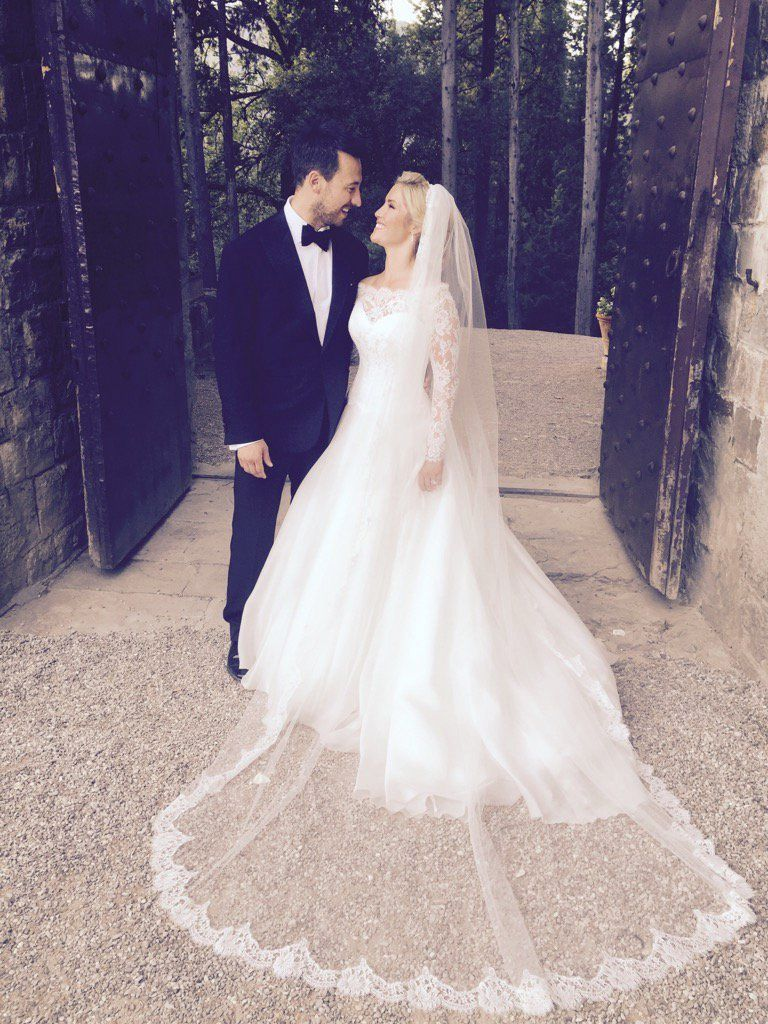 Celebrity wedding dresses in pictures
