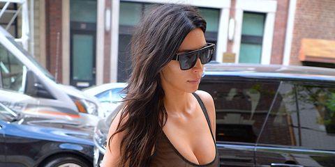 Kim Kardashian wearing no bra
