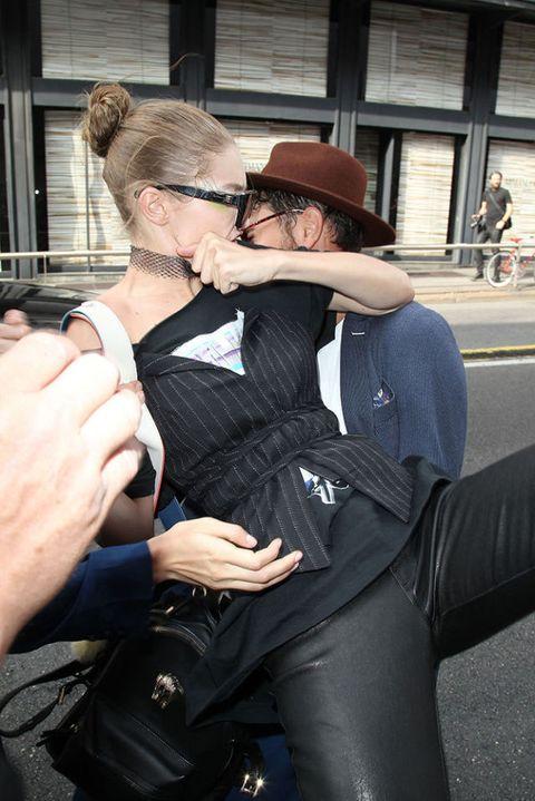 Gigi Hadid fights off man who picks her up during Milan Fashion Week