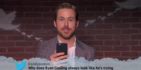 Watch Ryan Gosling, Kate Hudson and celebrities read out mean tweets about themselves