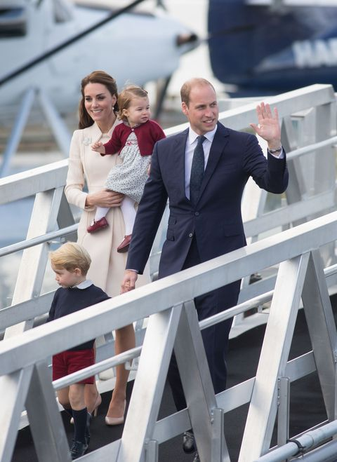 Prince George and Princess Charlotte wave goodbye to their Canada tour