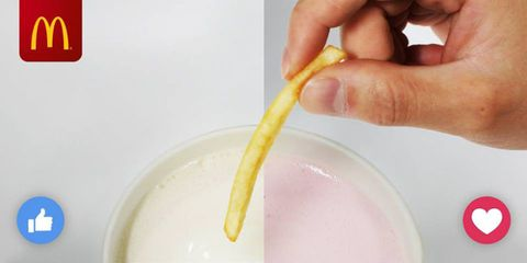 McDonald's suggested dunking fries in milkshake and people went crazy