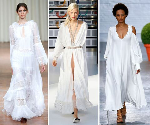 Spring/summer 2017 trends: white dresses