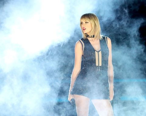 Taylor Swift performing at Circuit of Americas