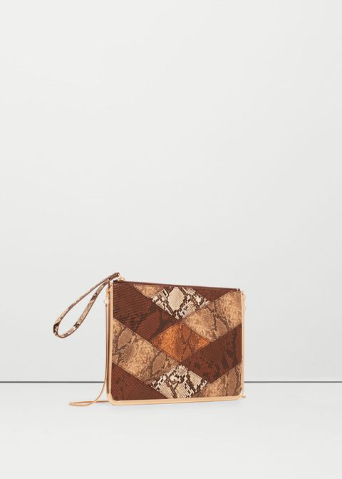 """<p>This clutch bag may look unassuming but it's oversized <em data-redactor-tag=""""em"""" data-verified=""""redactor"""">and</em> packs a pretty punch, too.</p><p><a href=""""http://shop.mango.com/GB/p0/woman/accessories/bags/crossbody-bags/snake-effect-zip-clutch?id=73005591_32&amp;n=1&amp;s=accesorios.bolsos"""" target=""""_blank"""">Snake-effect zip clutch, £19.99, Mango</a></p><p><em data-redactor-tag=""""em"""">Head in store and snap up any of these items by paying with your mobile thanks to&nbsp;<a class=""""body-el-link standard-body-el-link"""" href=""""https://www.visa.co.uk/visa-with-android-pay"""" target=""""_blank"""">Visa and Android Pay</a><sup data-redactor-tag=""""sup"""">TM.</sup><span class=""""redactor-invisible-space"""" data-verified=""""redactor"""" data-redactor-tag=""""span"""" data-redactor-class=""""redactor-invisible-space""""></span>Just download the app, add your Visa card and make a purchase!</em><span class=""""redactor-invisible-space"""" data-verified=""""redactor"""" data-redactor-tag=""""span"""" data-redactor-class=""""redactor-invisible-space""""></span><br></p><p><span class=""""redactor-invisible-space"""" data-verified=""""redactor"""" data-redactor-tag=""""span"""" data-redactor-class=""""redactor-invisible-space""""><em data-redactor-tag=""""em""""><em data-redactor-tag=""""em"""">Android Pay</em><em data-redactor-tag=""""em"""">&nbsp;is a trademark of Google Inc</em><span class=""""redactor-invisible-space"""" data-verified=""""redactor"""" data-redactor-tag=""""span"""" data-redactor-class=""""redactor-invisible-space""""></span></em><span class=""""redactor-invisible-space"""" data-verified=""""redactor"""" data-redactor-tag=""""span"""" data-redactor-class=""""redactor-invisible-space""""></span><br></span></p>"""
