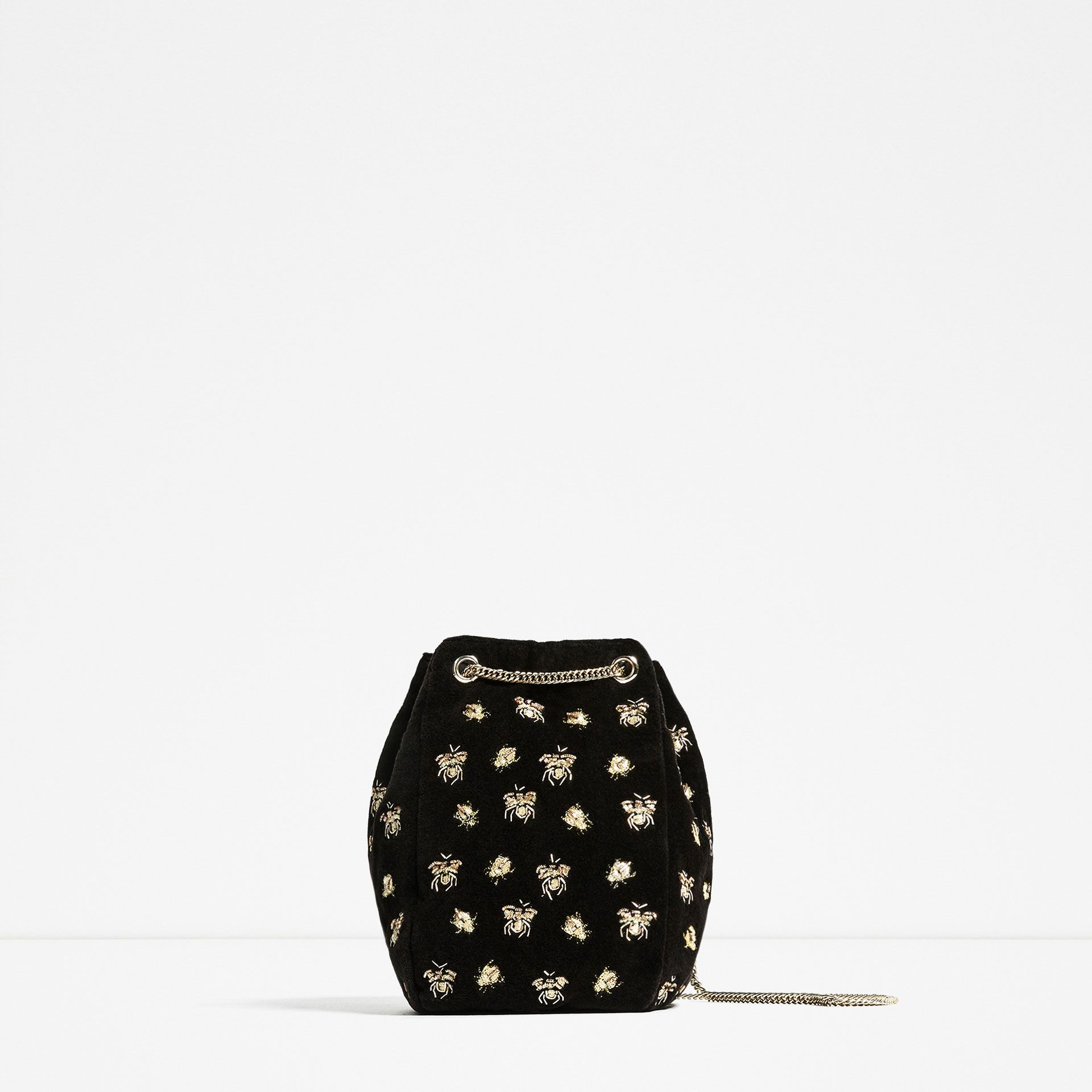 "<p>Bucket bags are perfect for when you just want to take ALL of your possessions out. They'll call you Mary Poppins (only your bag is cuter).</p><p><a href=""http://www.zara.com/uk/en/woman/bags/view-all/embroidered-bees-bucket-bag-c734144p3712560.html"" target=""_blank"">Embroidered bucket bag, £29.99, Zara</a></p>"