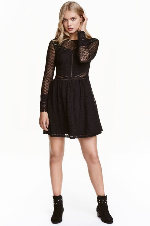 "<p>This lace number has sheer cut-outs right around the waist which draws the eye in at your favourite asset.</p><p><a href=""http://www2.hm.com/en_gb/productpage.0417728003.html#"" target=""_blank"">Lace dress, £29.99, H&amp;M</a></p>"