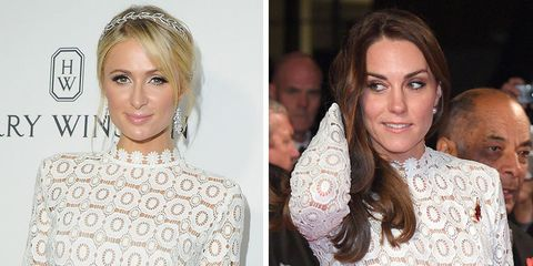 Kate Middleton wearing the same dress as Paris Hilton