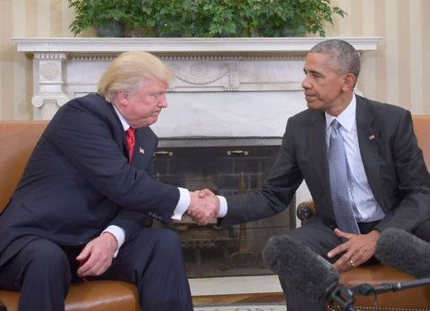 Barack Obama and Donald Trump meet at The White House for the first time