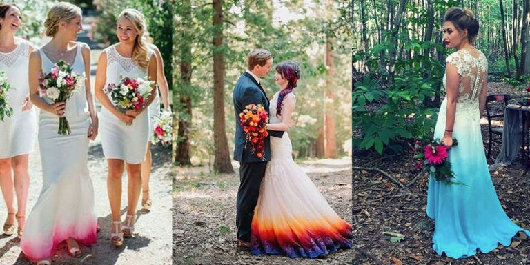 These ombre wedding dresses prove you don\'t have to wear all white