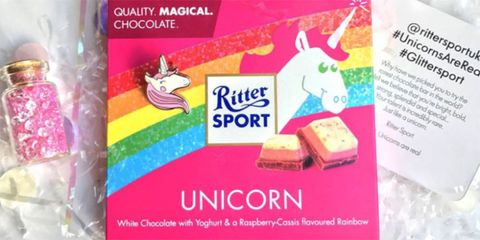 Unicorn chocolate exists and it sounds delightful