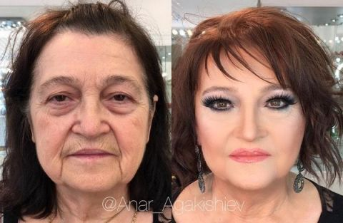 A makeup artist has shared his clients crazy makeup transformation