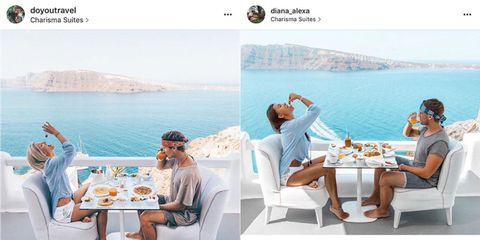 Blogger freaked out to realise a girl has been travelling round the world making EXACT copies of her Instagram pictures