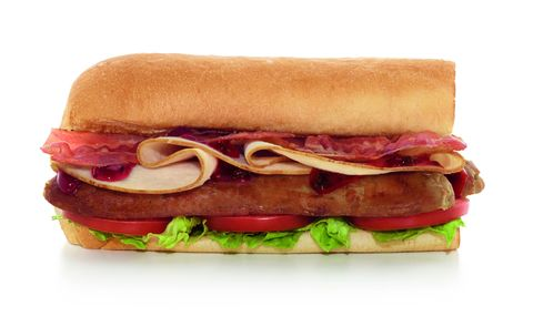 Subway Christmas sandwich food