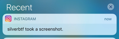 Hang on, does Instagram now send notifications when you screenshot pictures?