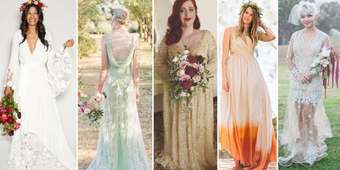 Mon-traditional wedding dress ideas for ballsy brides