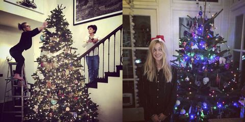 a round up of all the celebrity christmas decorations 2016
