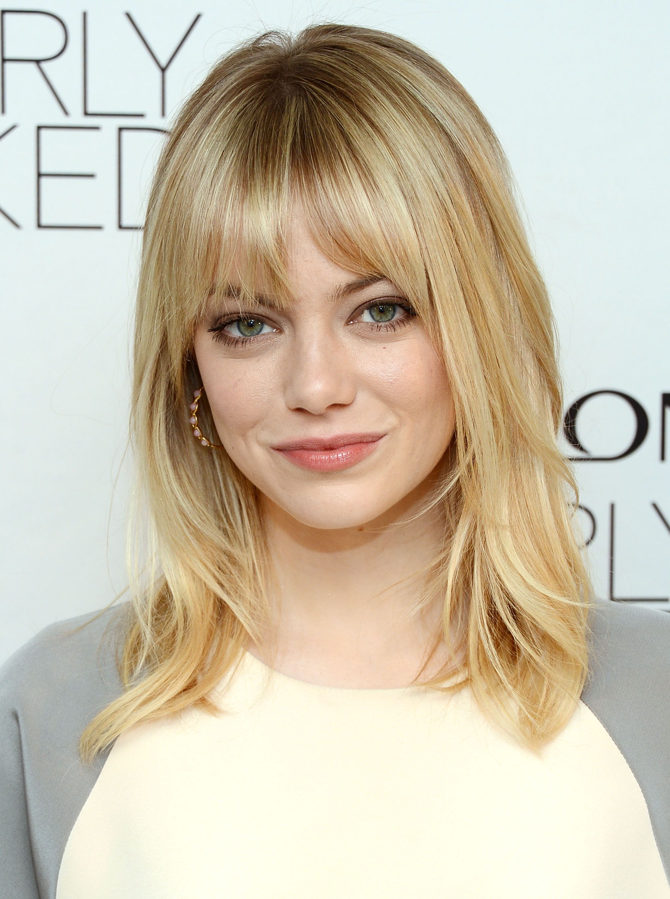 Blonde hair with bangs #5