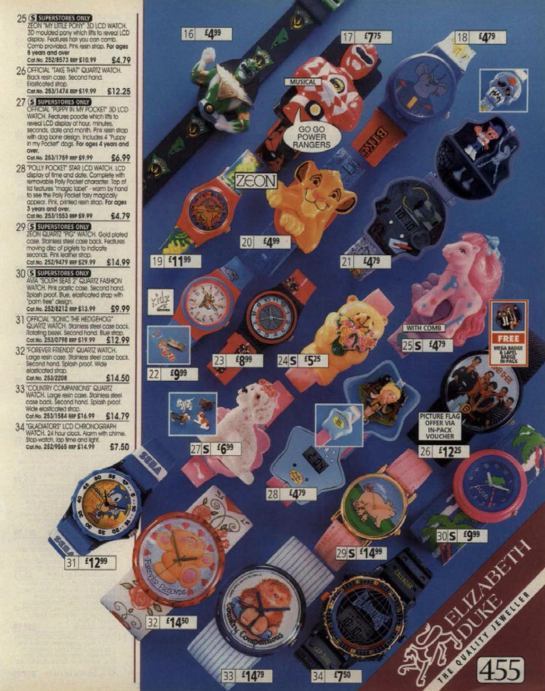 31 things every girl wanted from the Argos catalogue